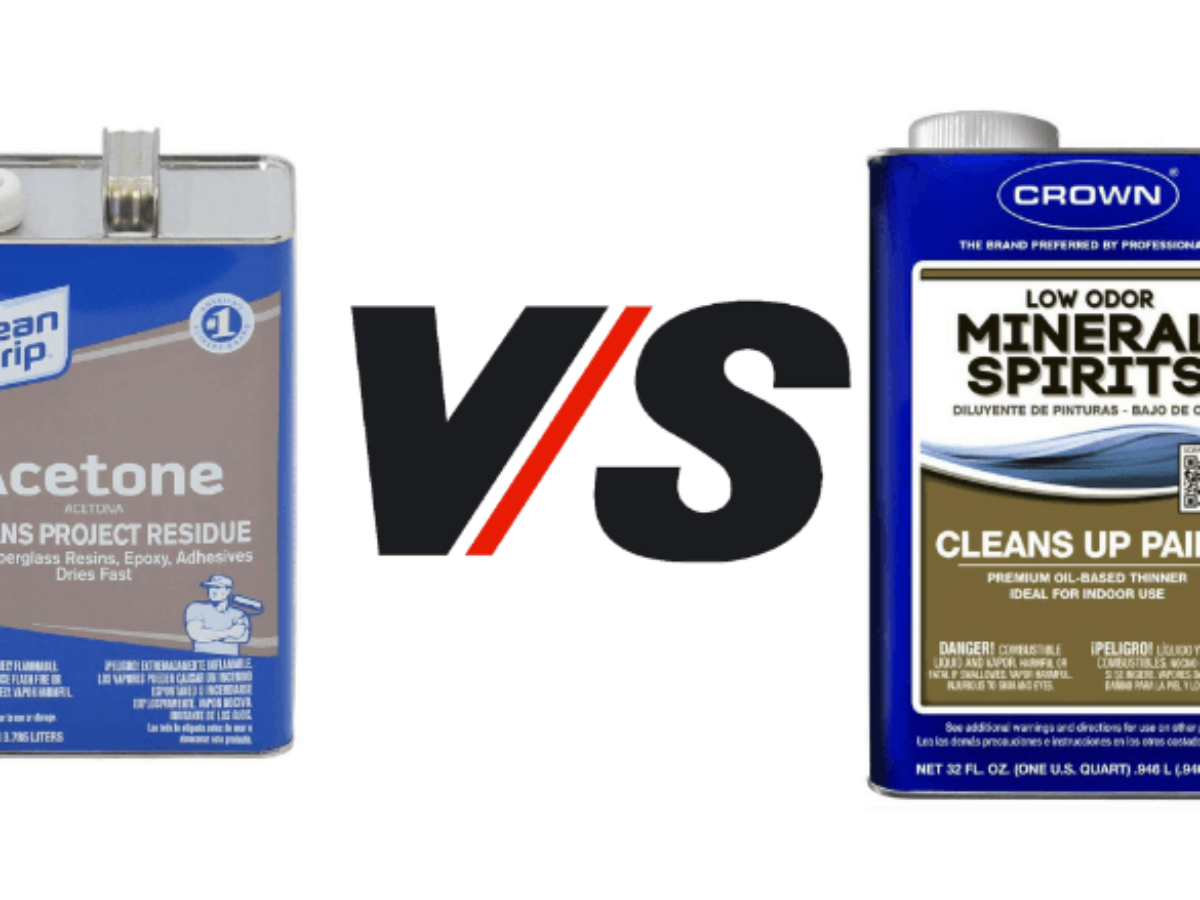 Cleaning Guide In Depth Acetone Vs Mineral Spirits Differences 2019